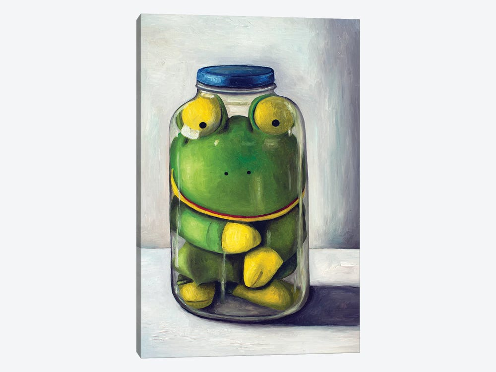 Preserving Childhood Frog by Leah Saulnier 1-piece Canvas Wall Art