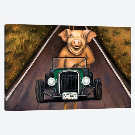 Road Hog Canvas Print #LSA162} by Leah Saulnier Canvas Artwork