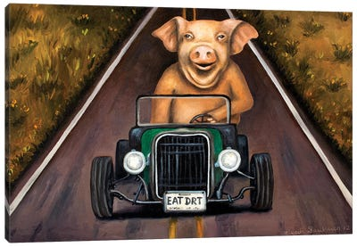 Road Hog Canvas Art Print