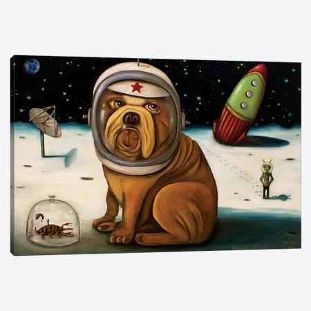 Space Crash Canvas Print #LSA175} by Leah Saulnier Canvas Art