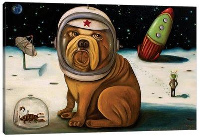 Space Crash Canvas Art Print