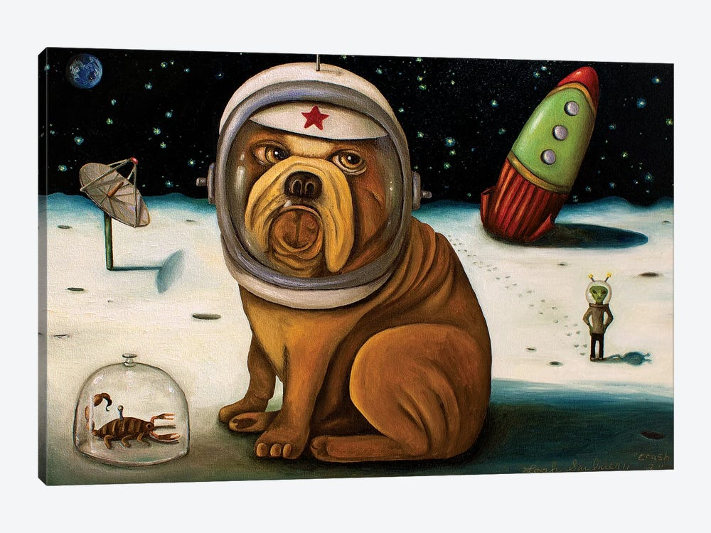 Space Crash by Leah Saulnier 1-piece Canvas Art Print