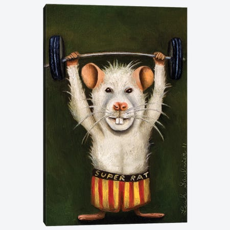 Super Rat Canvas Print #LSA181} by Leah Saulnier Canvas Artwork