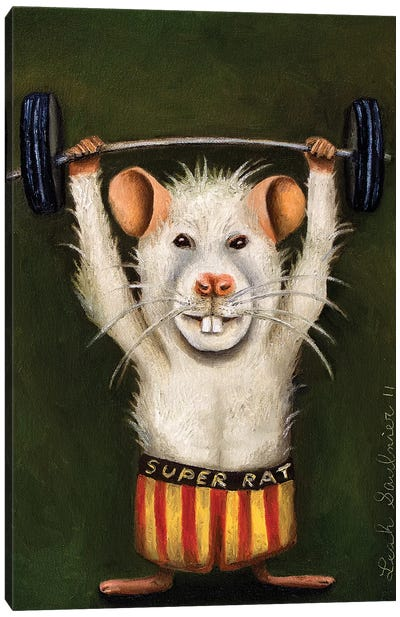 Super Rat Canvas Art Print