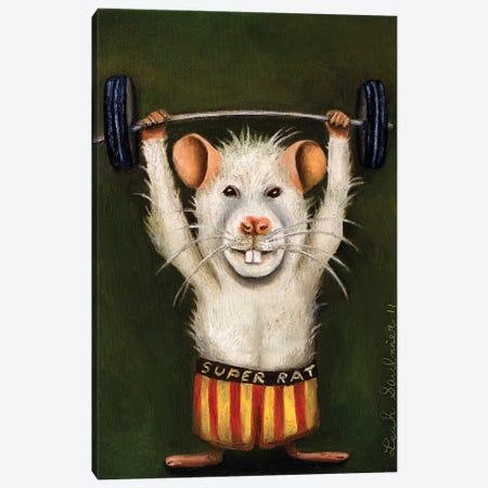 Super Rat Canvas Print #LSA181} by Leah Saulnier Canvas Artwork