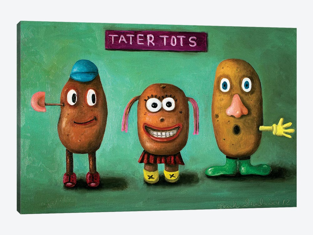 Tater Tots by Leah Saulnier 1-piece Canvas Wall Art