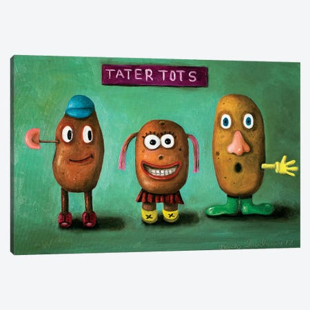 Tater Tots Canvas Print #LSA185} by Leah Saulnier Canvas Print