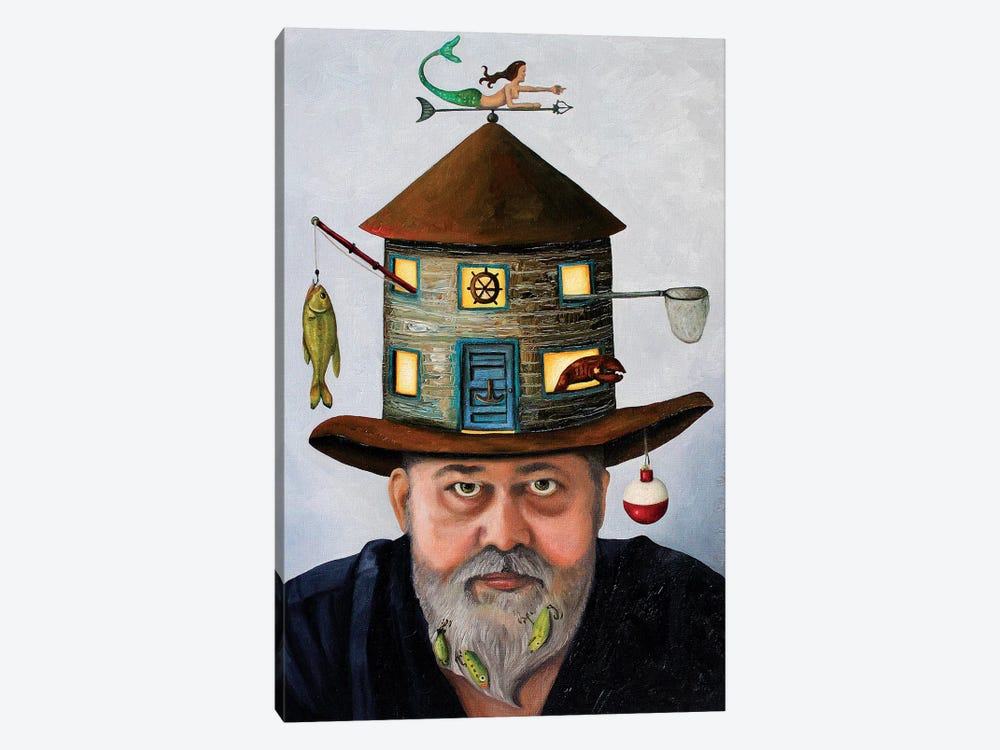 The Fisherman by Leah Saulnier 1-piece Canvas Print