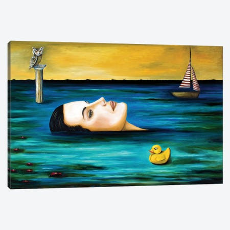 The Onlooker Canvas Print #LSA190} by Leah Saulnier Art Print