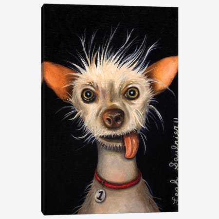Ugly Dog Canvas Print #LSA195} by Leah Saulnier Canvas Wall Art