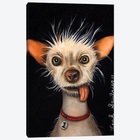 Ugly Dog Canvas Print #LSA195} by Leah Saulnier Canvas Wall Art