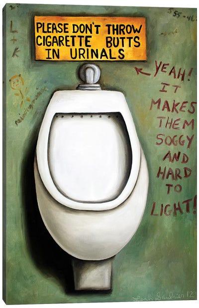 Urinal Canvas Art Print