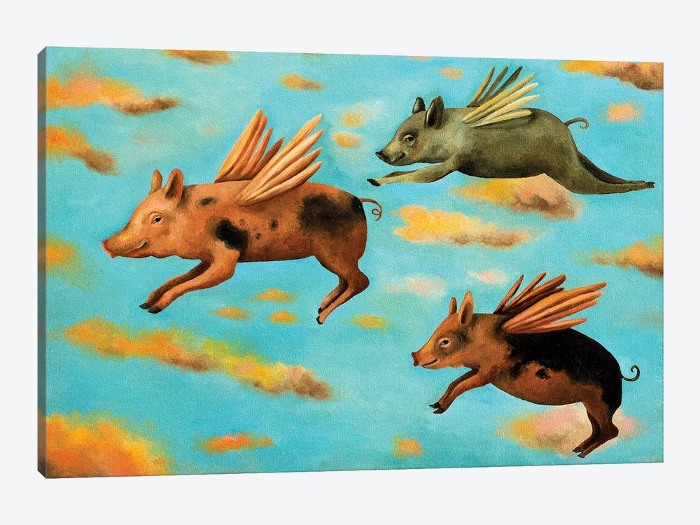 When Pigs Fly by Leah Saulnier 1-piece Canvas Print