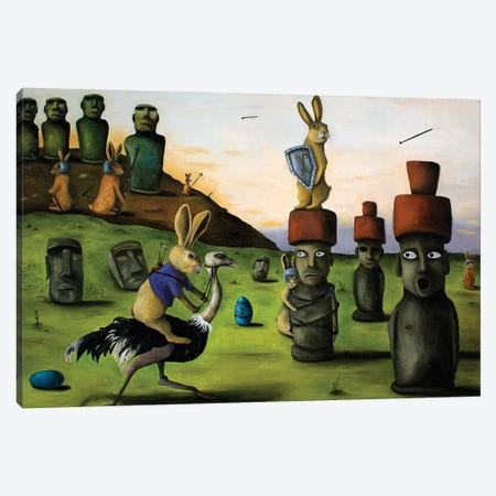 Battle Over Easter Island Canvas Print #LSA19} by Leah Saulnier Art Print