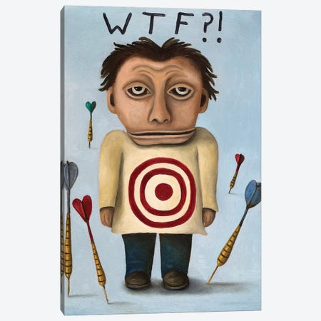 WTF II Canvas Print #LSA204} by Leah Saulnier Canvas Wall Art