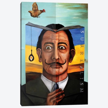 Book Of Surrealism Canvas Print #LSA27} by Leah Saulnier Canvas Art Print
