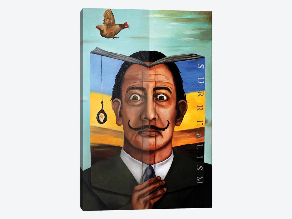 Book Of Surrealism by Leah Saulnier 1-piece Canvas Wall Art
