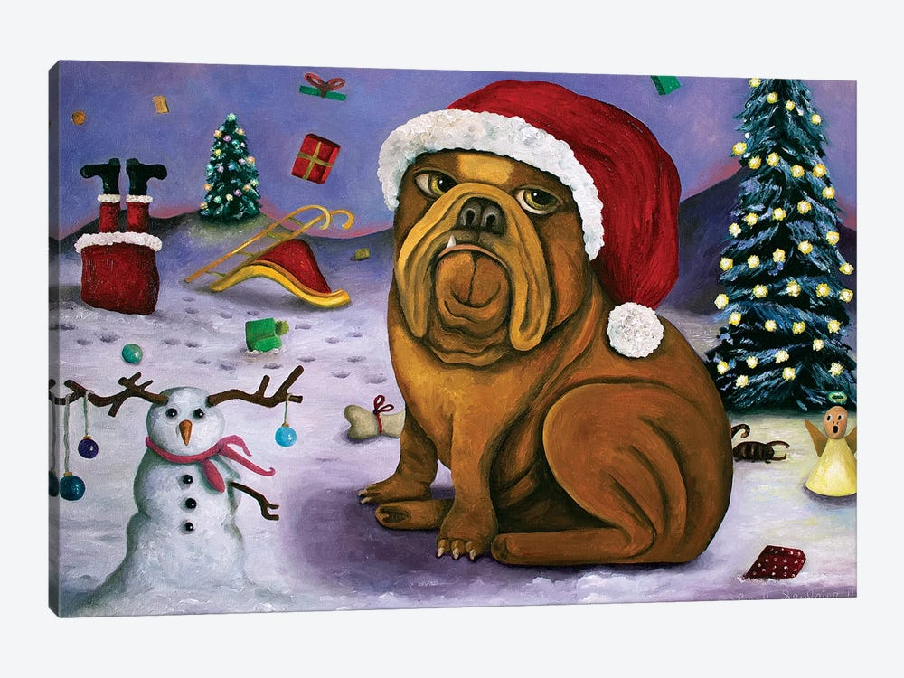 Christmas Crash by Leah Saulnier 1-piece Canvas Artwork