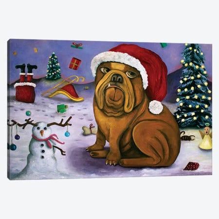 Christmas Crash Canvas Print #LSA38} by Leah Saulnier Canvas Print