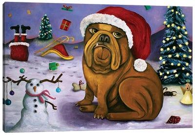 Christmas Crash Canvas Art Print