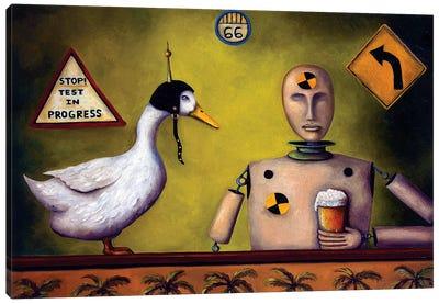 Drink Test Dummy Canvas Art Print