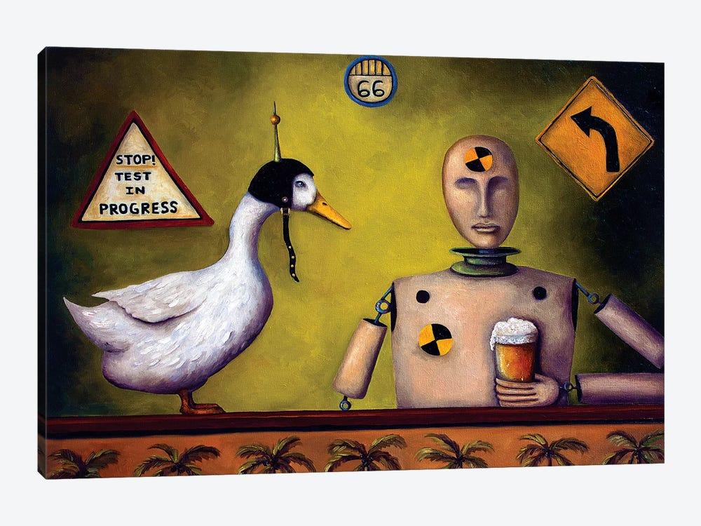 Drink Test Dummy by Leah Saulnier 1-piece Art Print