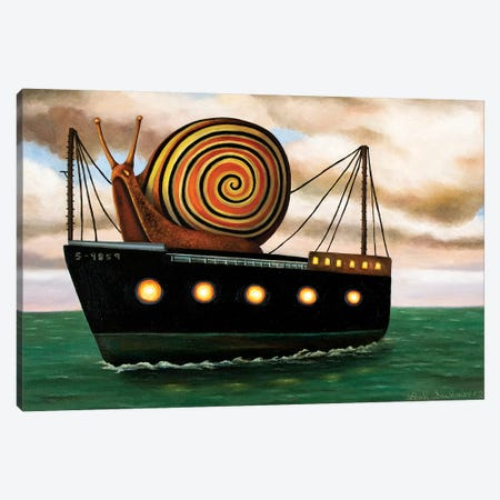 Es Cargot Canvas Print #LSA60} by Leah Saulnier Canvas Wall Art