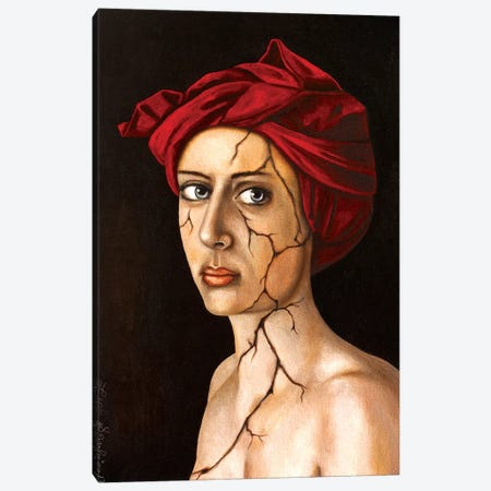 Fractured Identity 3-Piece Canvas #LSA64} by Leah Saulnier Canvas Art Print