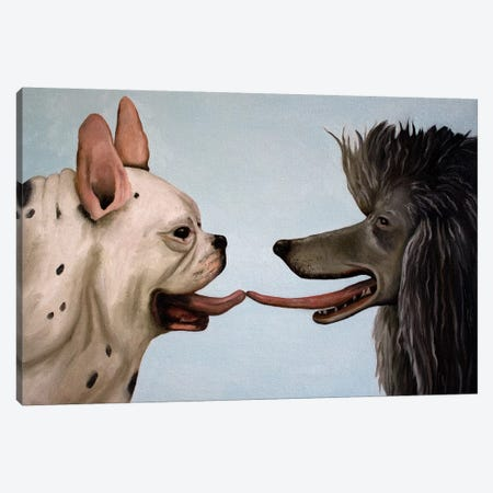 French Kiss Canvas Print #LSA66} by Leah Saulnier Canvas Art Print