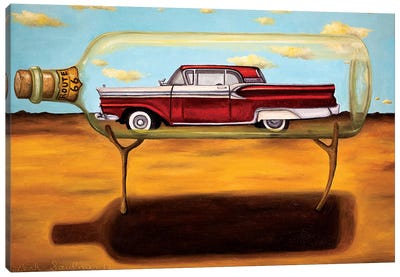 Galaxie In A Bottle Canvas Art Print