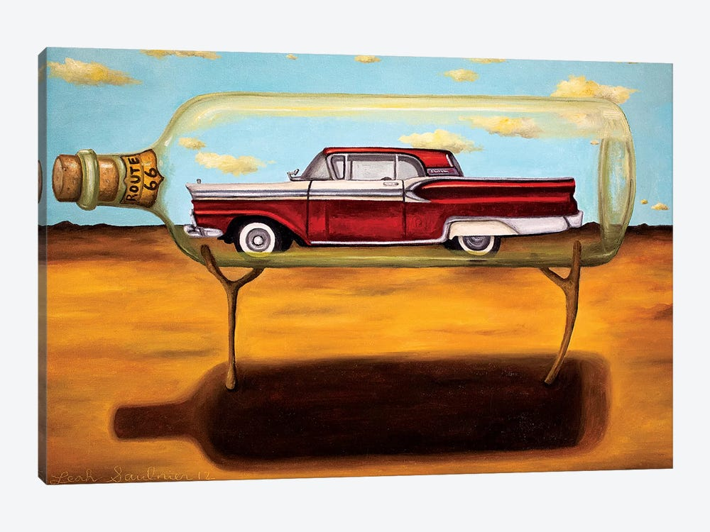 Galaxie In A Bottle 1-piece Canvas Art Print