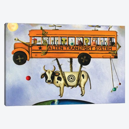 Alien Transport Canvas Print #LSA8} by Leah Saulnier Art Print