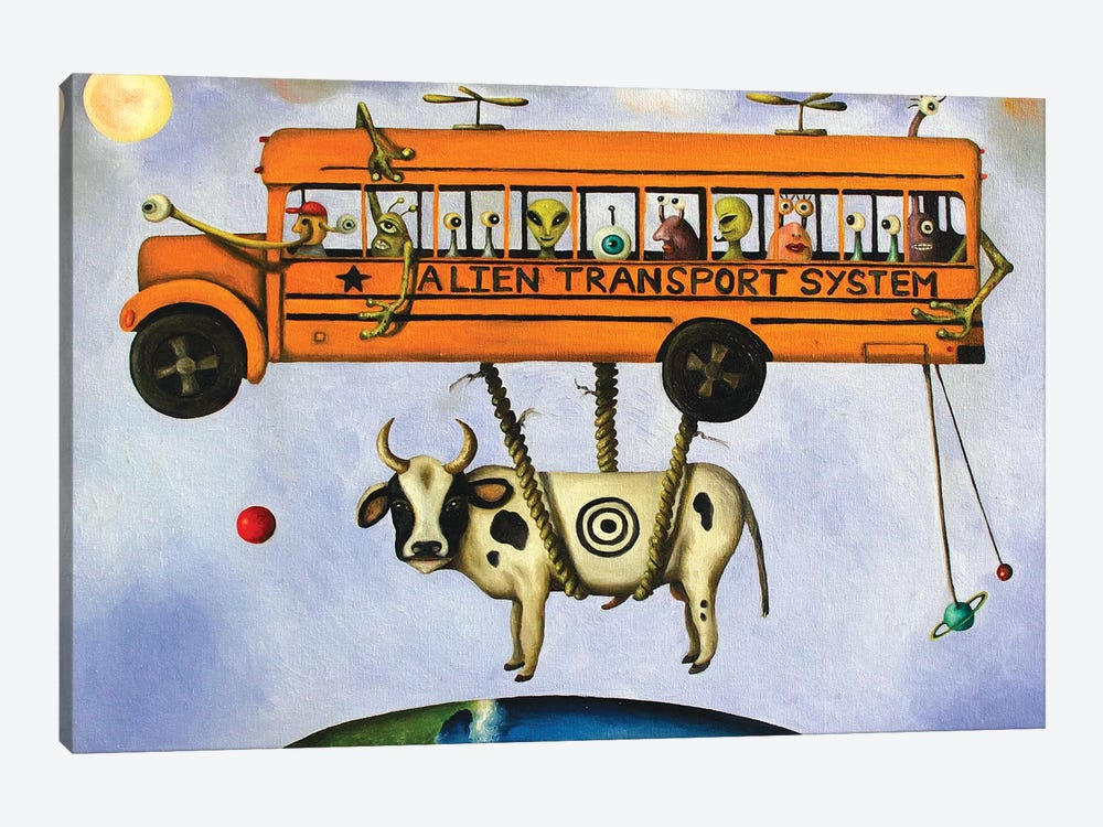 Alien Transport by Leah Saulnier 1-piece Canvas Artwork