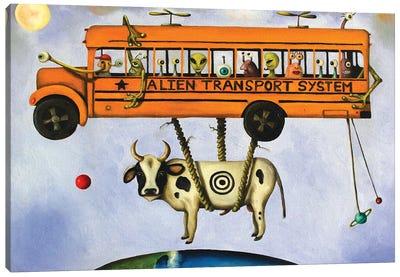 Alien Transport Canvas Art Print