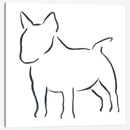 Miniature Bull Terrier Canvas Print #LSB10} by Lesley Bishop Canvas Art