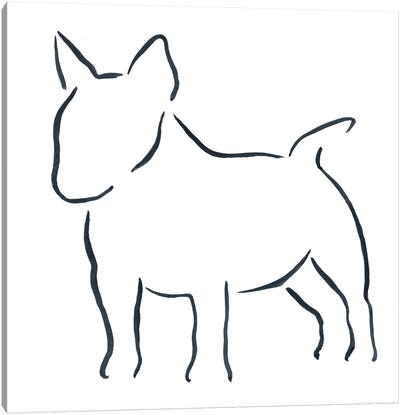 Miniature Bull Terrier Canvas Art Print