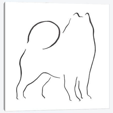 Samoyed Canvas Print #LSB12} by Lesley Bishop Canvas Art