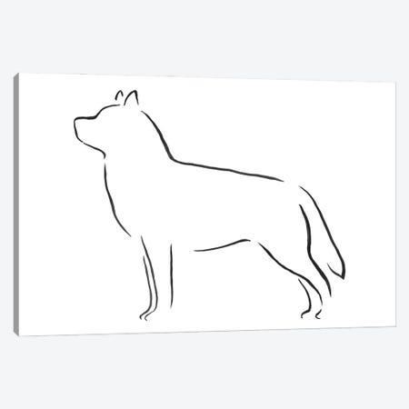 Siberian Huskie Canvas Print #LSB14} by Lesley Bishop Canvas Art Print