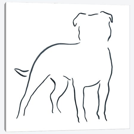 Staffordshire Bull Terrier Canvas Print #LSB15} by Lesley Bishop Canvas Print