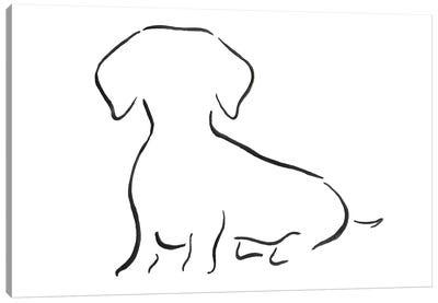 Dachshund Sitting Canvas Art Print