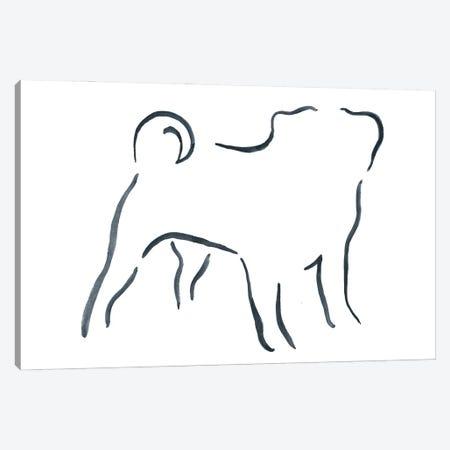 Pug Canvas Print #LSB37} by Lesley Bishop Art Print