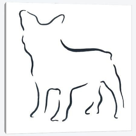 French Bulldog Canvas Print #LSB39} by Lesley Bishop Canvas Wall Art