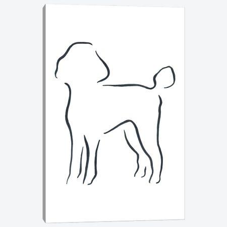 Poodle Canvas Print #LSB43} by Lesley Bishop Canvas Art Print