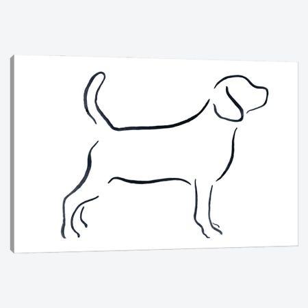 Beagle Canvas Print #LSB44} by Lesley Bishop Canvas Artwork