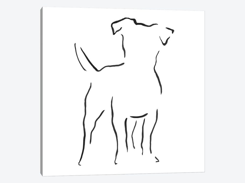 Jack Russell Terrier by Lesley Bishop 1-piece Canvas Wall Art