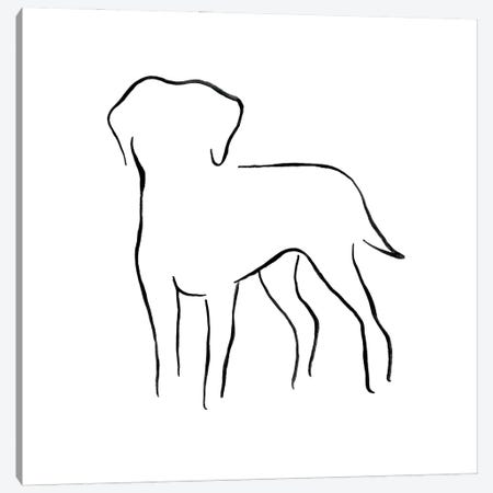 Labrador Retriever Canvas Print #LSB8} by Lesley Bishop Canvas Artwork