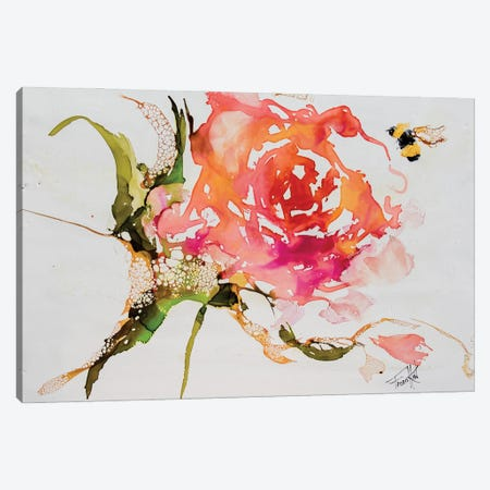 Buzy Pollinating Canvas Print #LSF10} by Art by Leslie Franklin Canvas Art