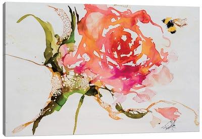 Buzy Pollinating Canvas Art Print