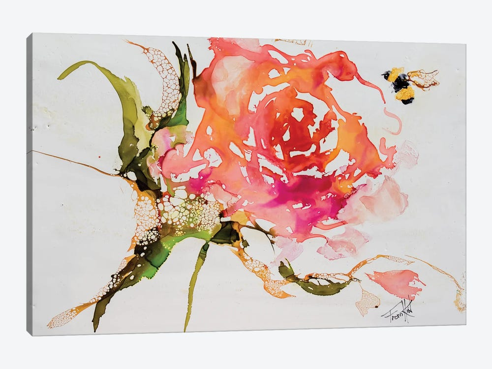 Buzy Pollinating by Art by Leslie Franklin 1-piece Canvas Print