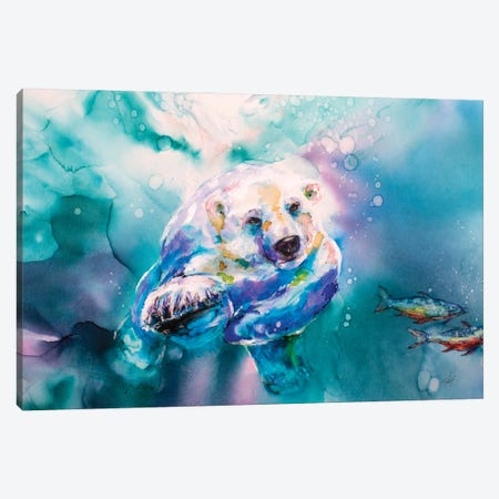 Chasing Char Canvas Print #LSF13} by Art by Leslie Franklin Canvas Art